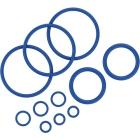 Tiivisterengassarja sisältää 11 erikokoista tiivisterengasta Crafty -vaporisaattorille